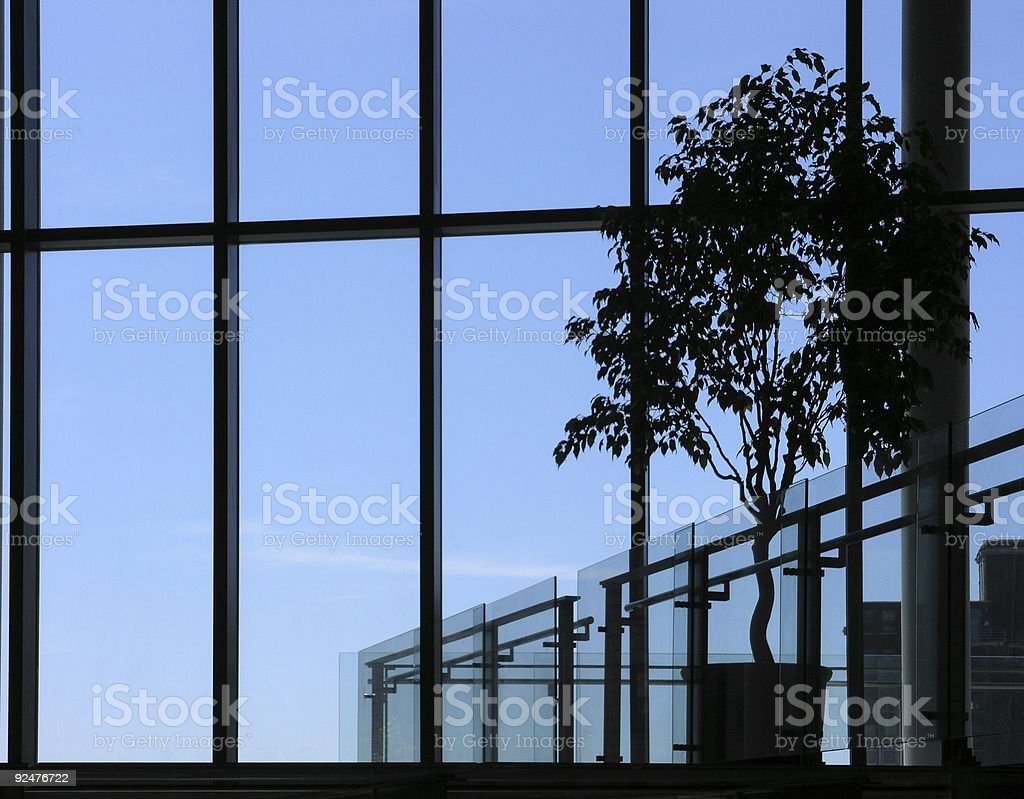 Silhouettes on Blue royalty-free stock photo
