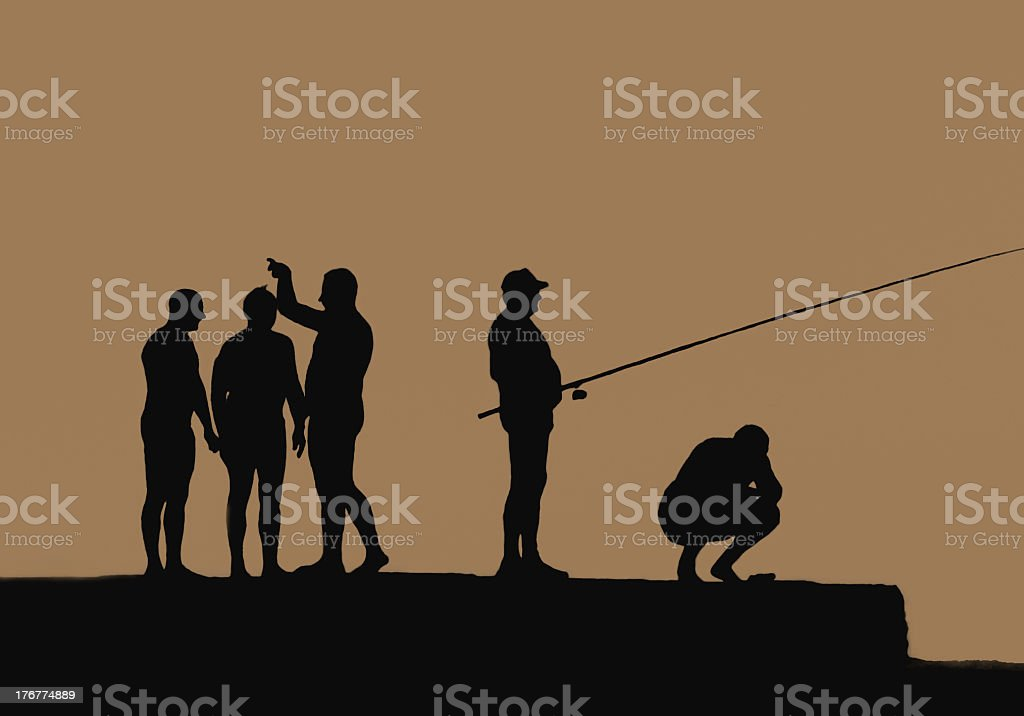 Silhouettes royalty-free stock photo