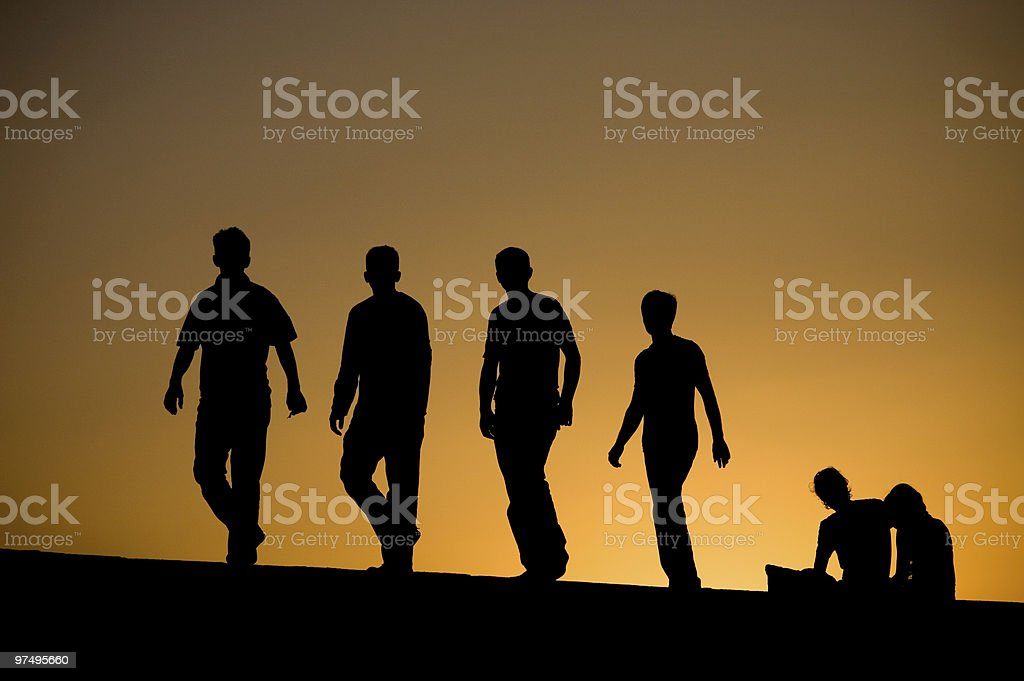 Silhouettes royalty-free stock photo
