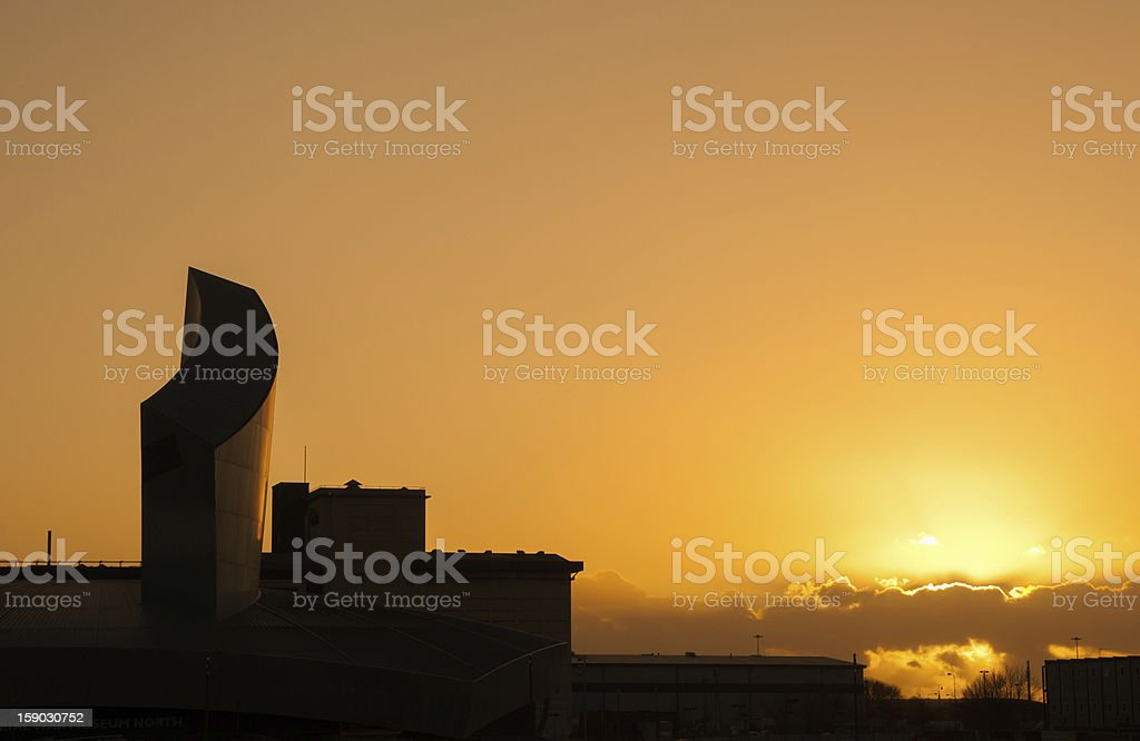 silhoutte building saford royalty-free stock photo