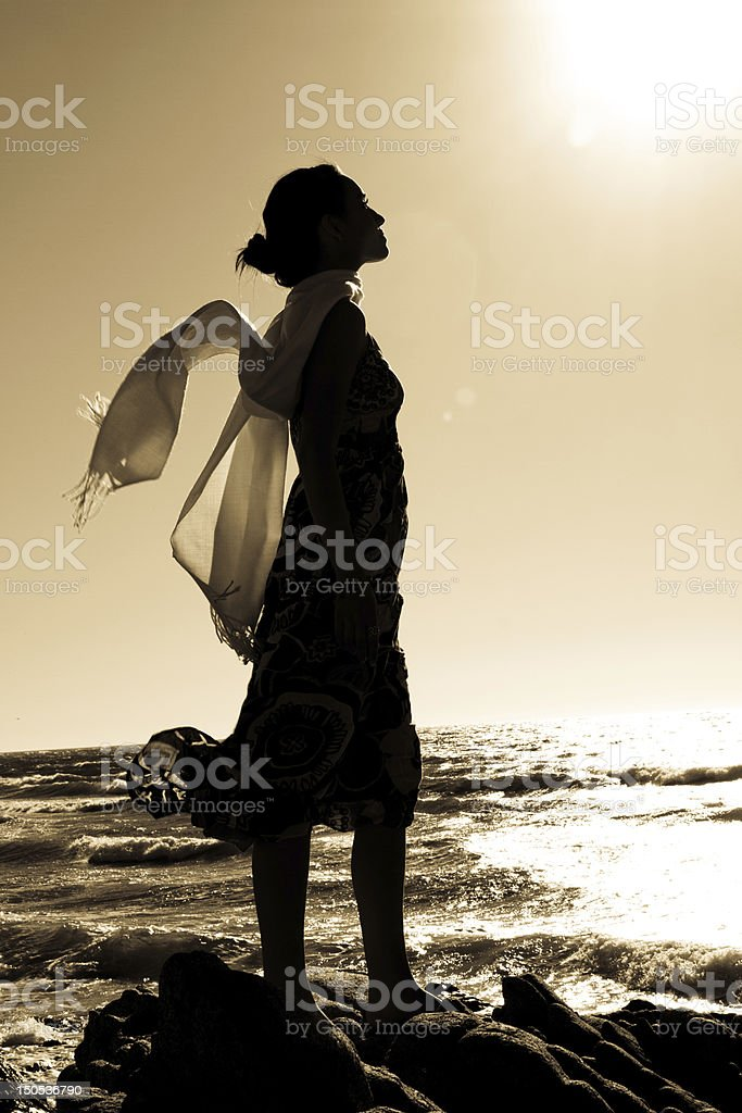 Silhoutte of a woman royalty-free stock photo
