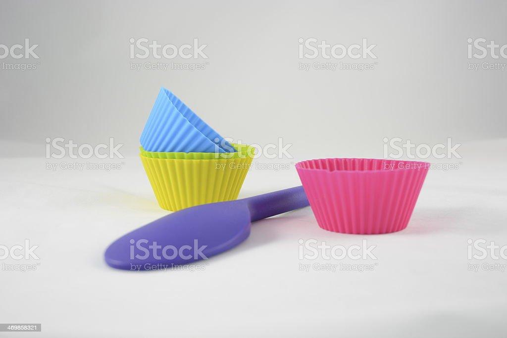 Silicon Baking Utensils stock photo