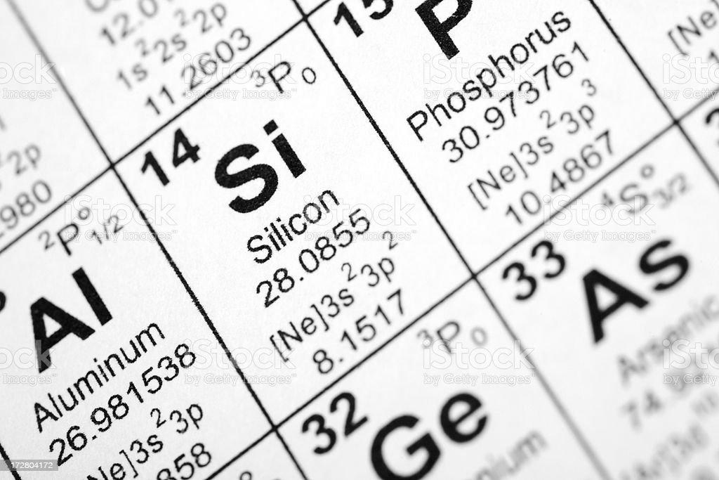 Silicon Element royalty-free stock photo