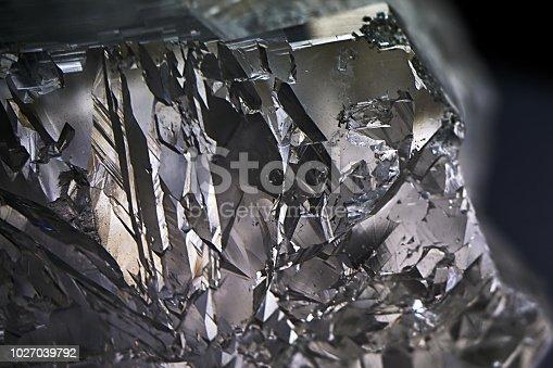 silicon crystal on black