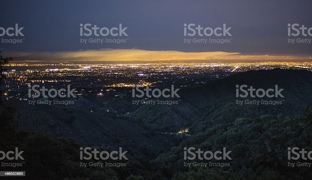 Silicon Valley at Night stock photo