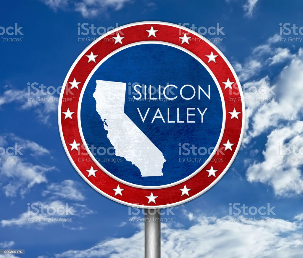 Silicon Valley in Kalifornien - Karte Abbildung – Foto
