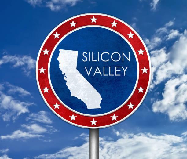 Silicon Valley in Kalifornien - Karte Abbildung – Foto