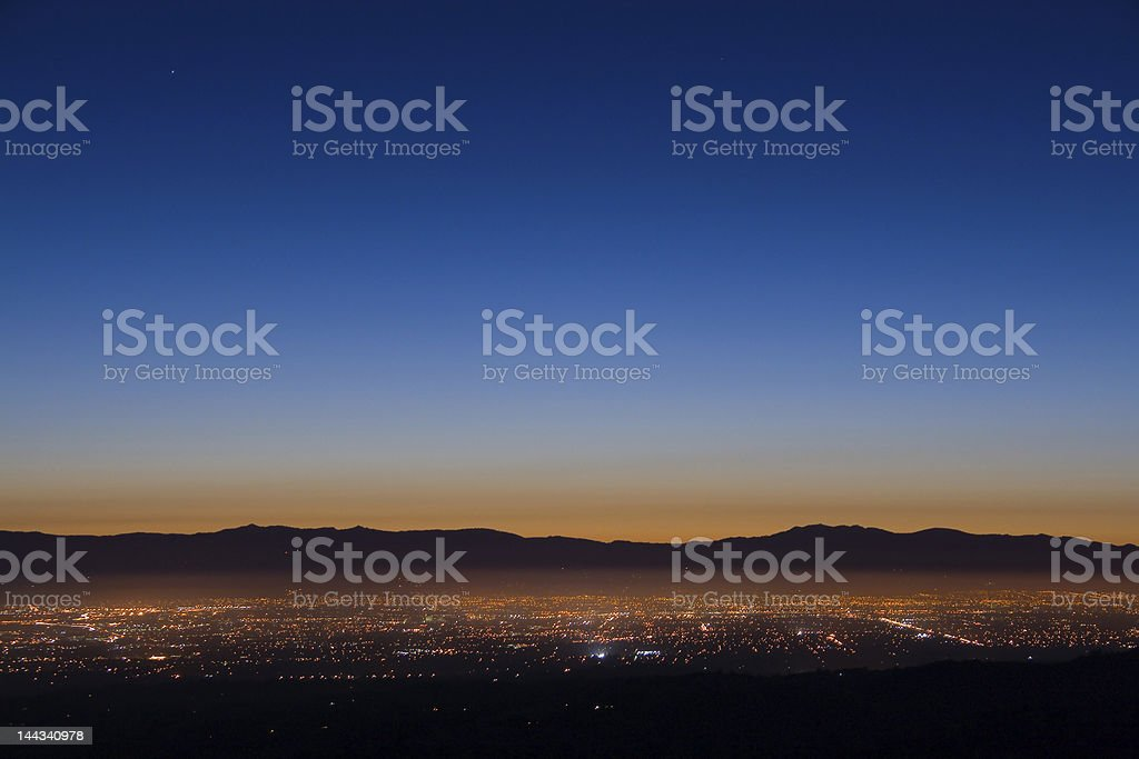 Silicon Valley Sunrise royalty-free stock photo