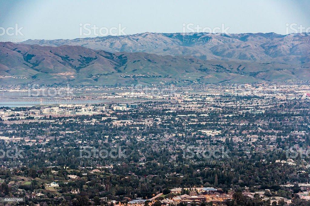 Silicon Valley Twilight stock photo