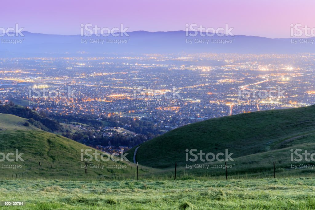 Silicon Valley Twilight stock photo