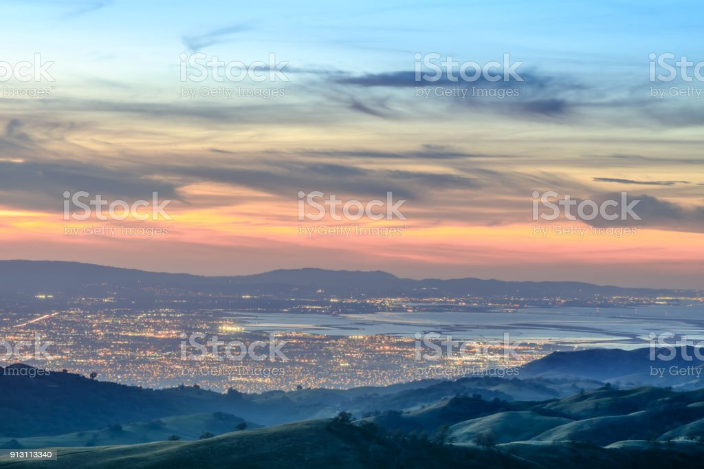 Silicon Valley Views from above stock photo