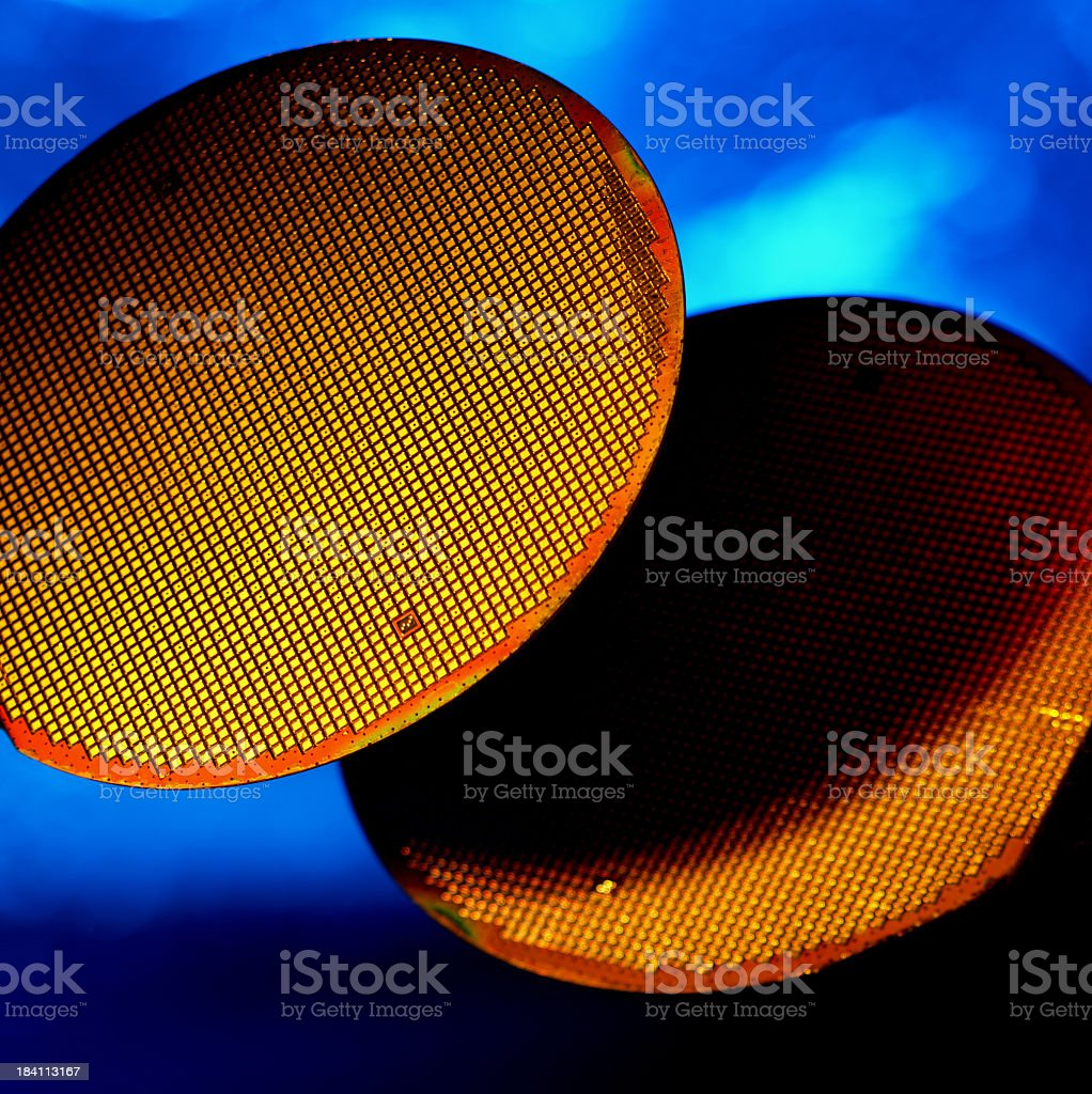 Silicon Wafers royalty-free stock photo