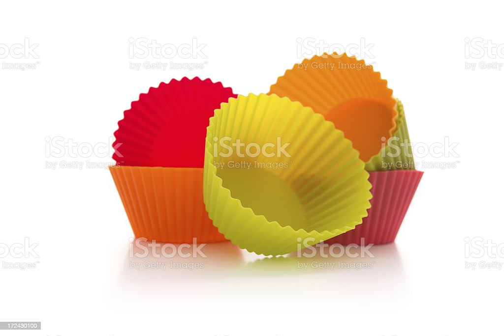 Silicone cupcake moulds stock photo
