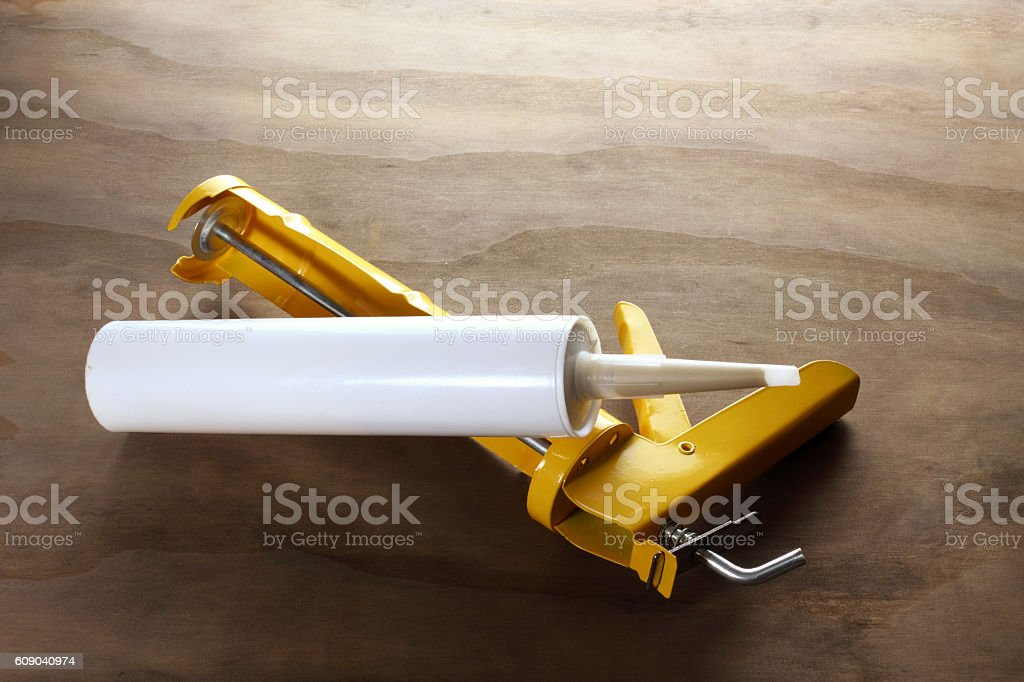 Silicone Gun stock photo