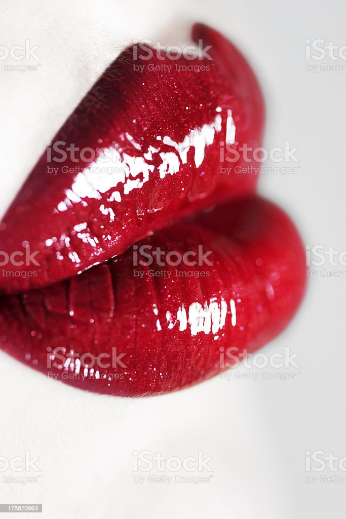 Silicone lips concept royalty-free stock photo