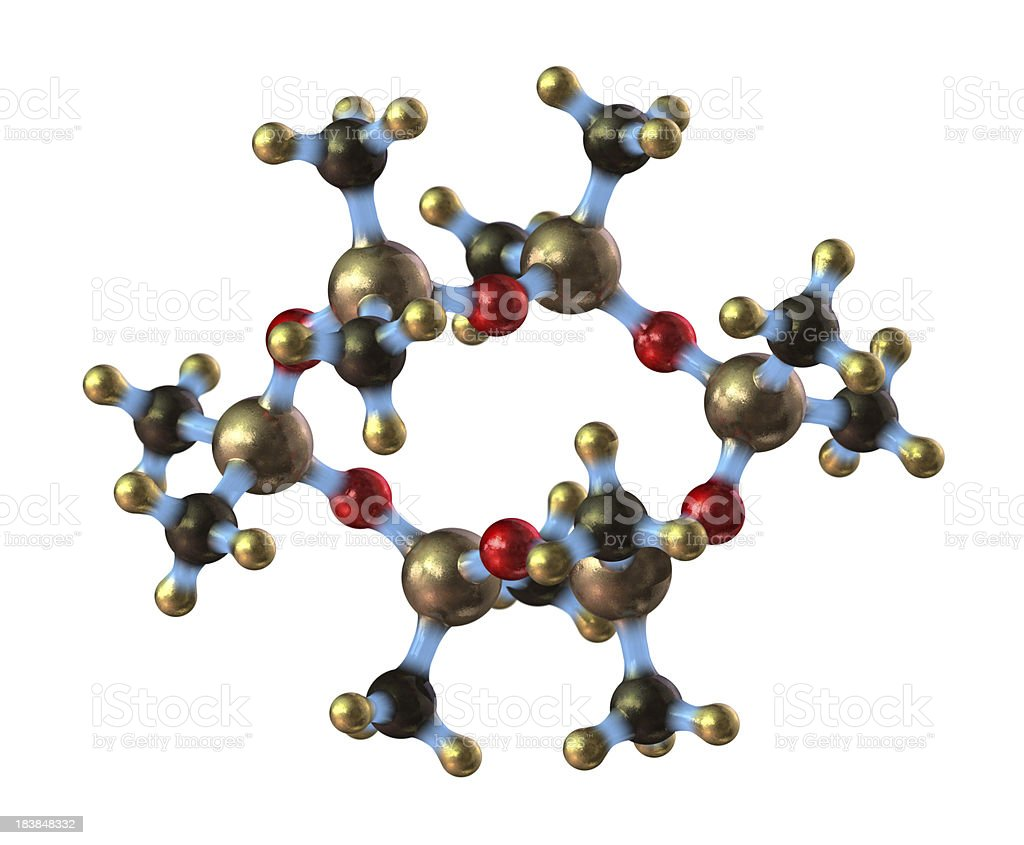 Silicone Molecule royalty-free stock photo