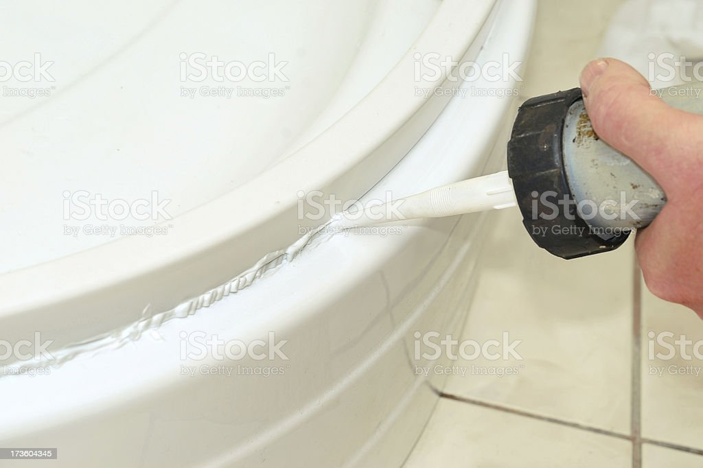 Silicone Sealant stock photo