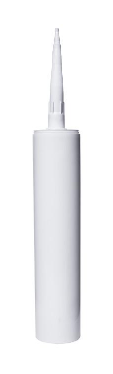 silicone tube closeup on white isolated background