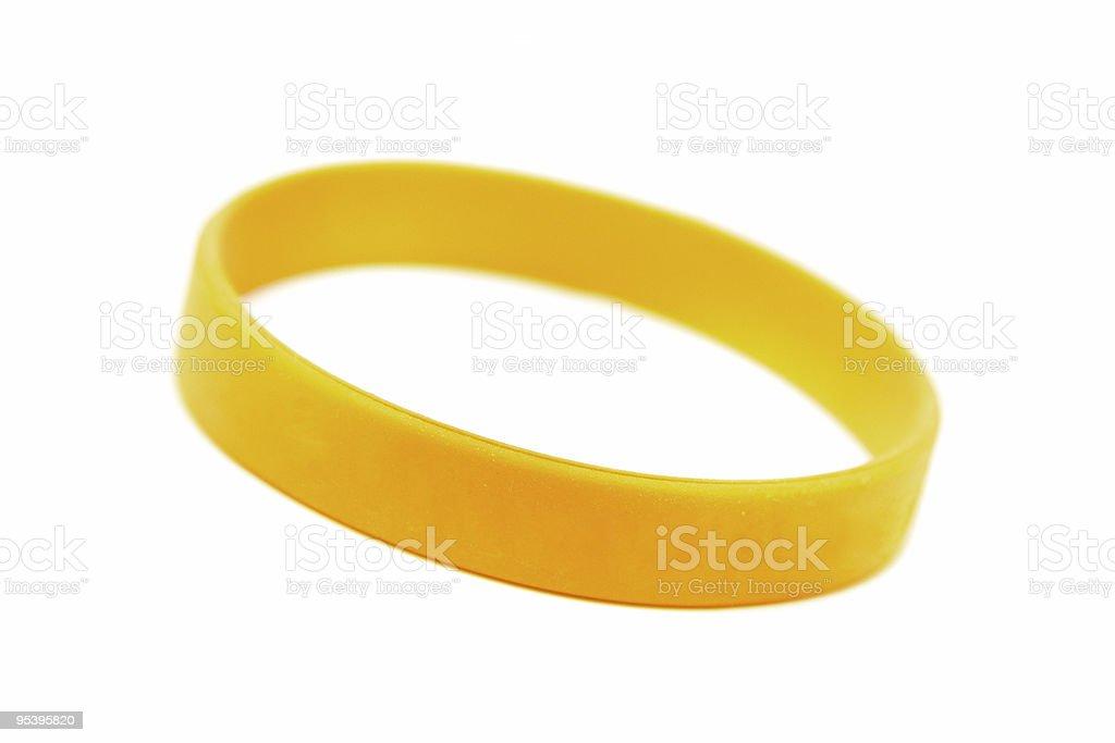 silicone wristband, bracelet on the white stock photo
