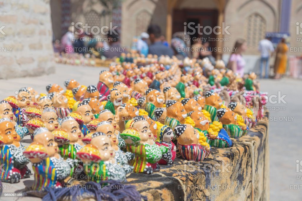 BUKHARA, UZBEKISTAN - MAY 25, 2018: Silk and Spices Festival 2018. Souvenirs shop in Bukhara, Uzbekistan. royalty-free stock photo