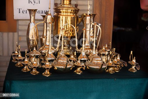 Bukhara Uzbekistan May 25 2018 Silk And Spices Festival 2018 Souvenirs Shop In Bukhara Uzbekistan Stock Photo & More Pictures of 2018