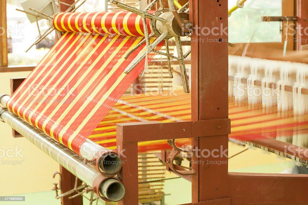 Silk cloth ,sewing machine royalty-free stock photo