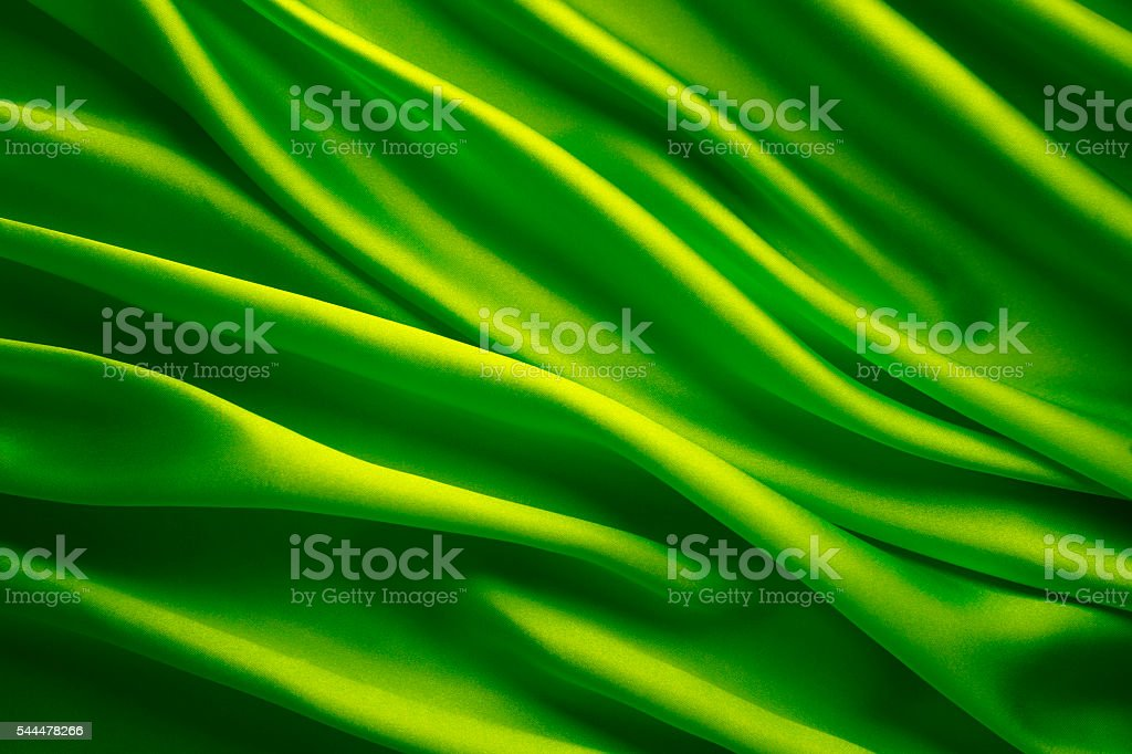 Foto De Silk Fabric Background Abstract Green Satin Waving Cloth E Mais Fotos De Stock De Abstrato Istock
