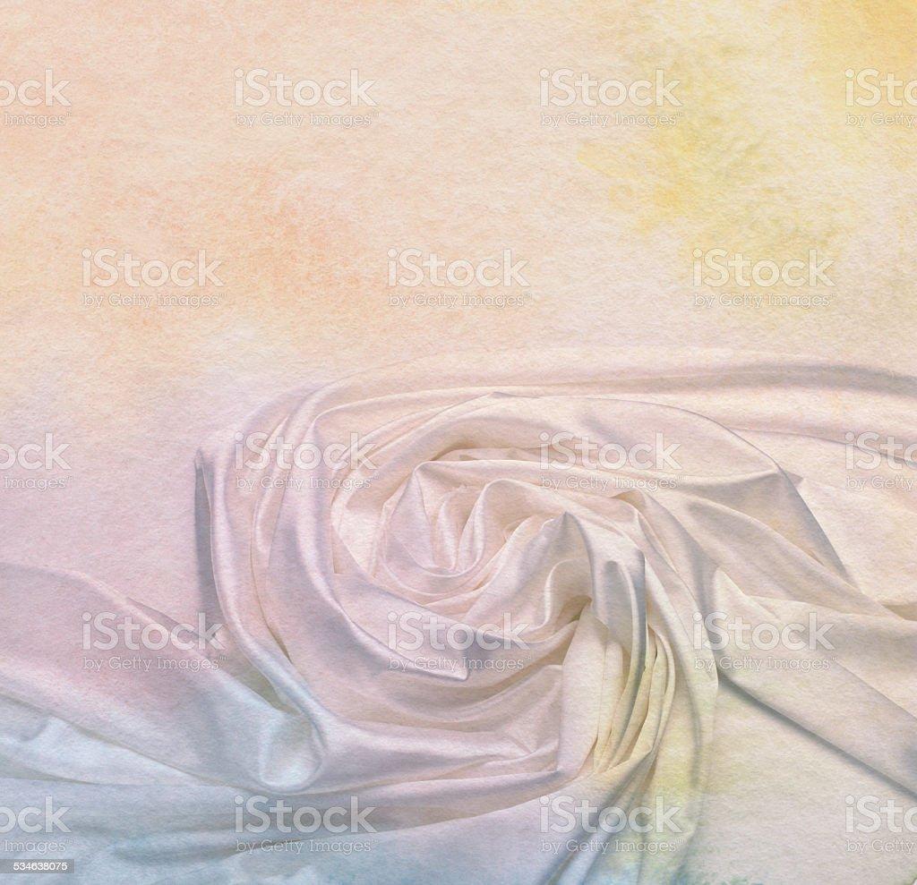 Silk fabric background. Vintage retro style. stock photo