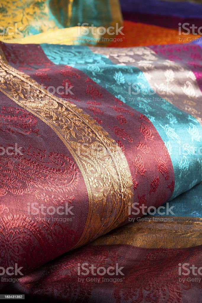silk fabrics royalty-free stock photo