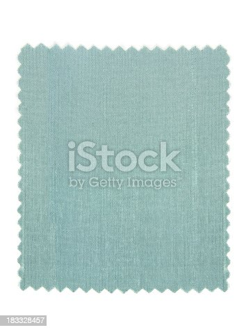 Close up on a textured silk light blue fabric swatch. Straight on view. Related images: