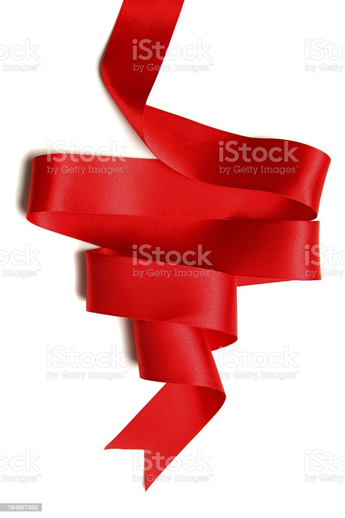 Silk Red Ribbon royalty-free stock photo