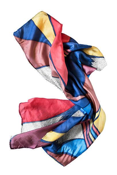 silk scarf isolated - lenço do pescoço imagens e fotografias de stock