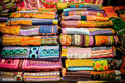 Silk scarves and textiles from Thailand