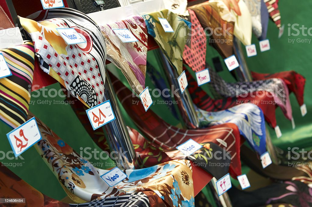 Silk Scarves royalty-free stock photo