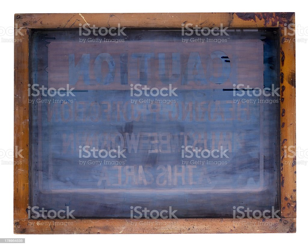 silk screen royalty-free stock photo