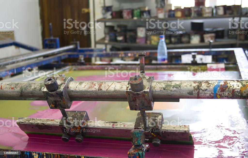 Silk screening royalty-free stock photo