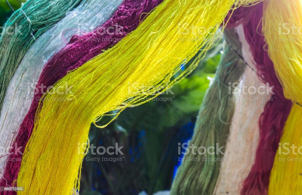 Silk thread stock photo