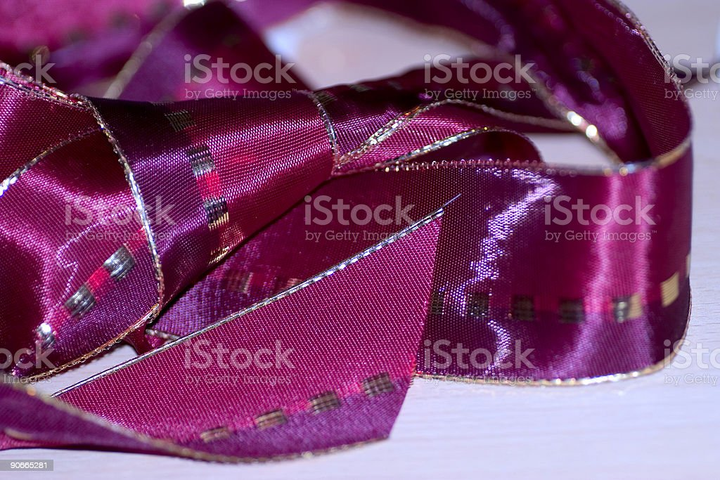 Silk wrapping ribbons royalty-free stock photo