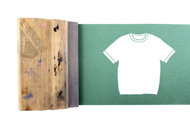 Silking t-shirt stock photo