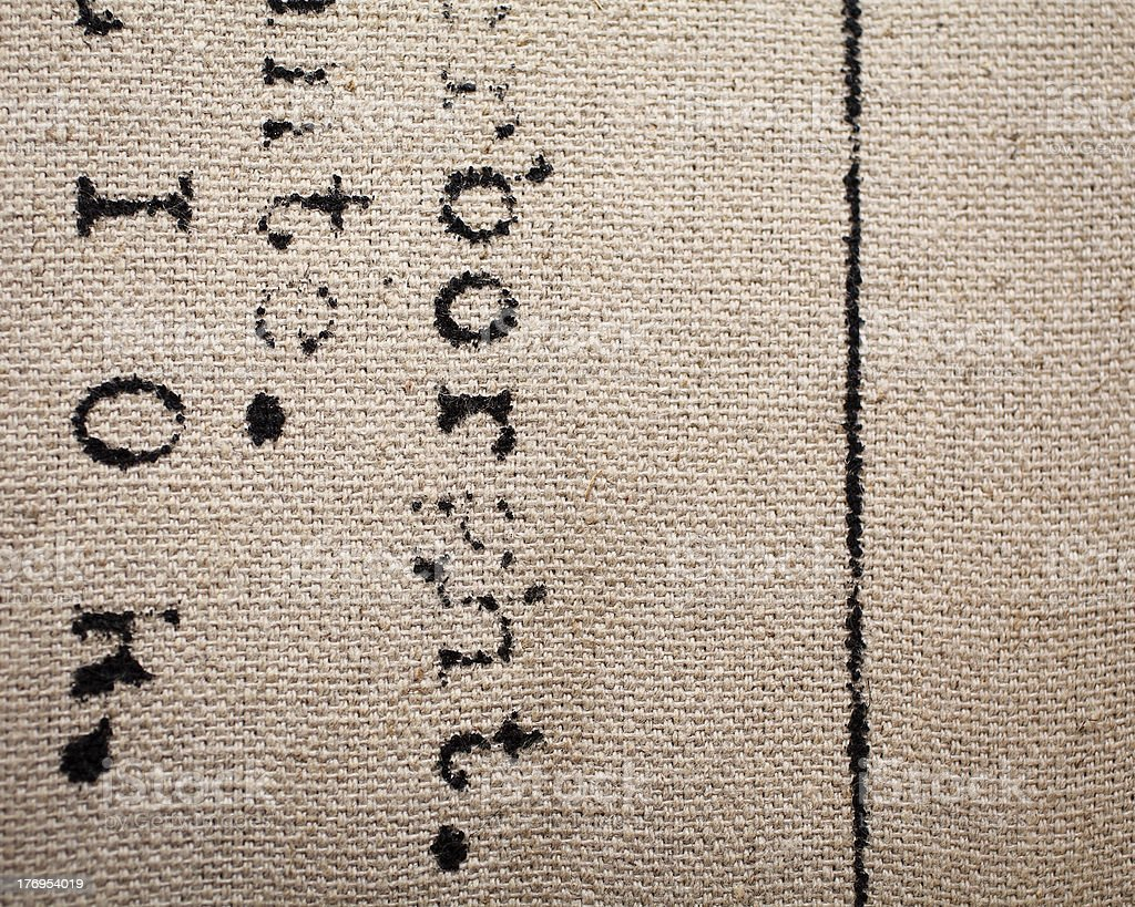 Silk-screened canvas texture royalty-free stock photo