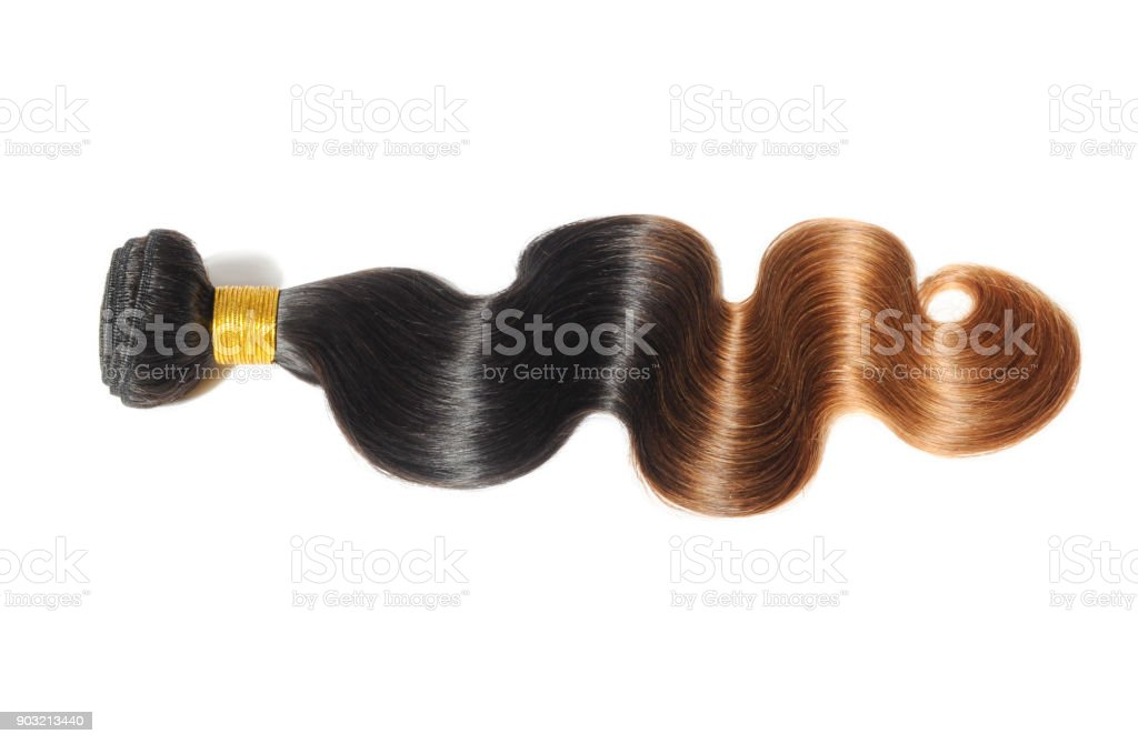 Silky Body Wavy Two Tone Ombre Black With Auburn Human Hair Weave