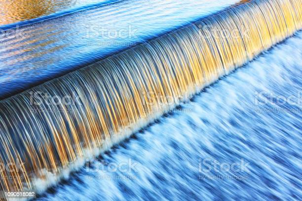 Photo of Silky Golden Light on Lake Placid New York Evening Waterfall