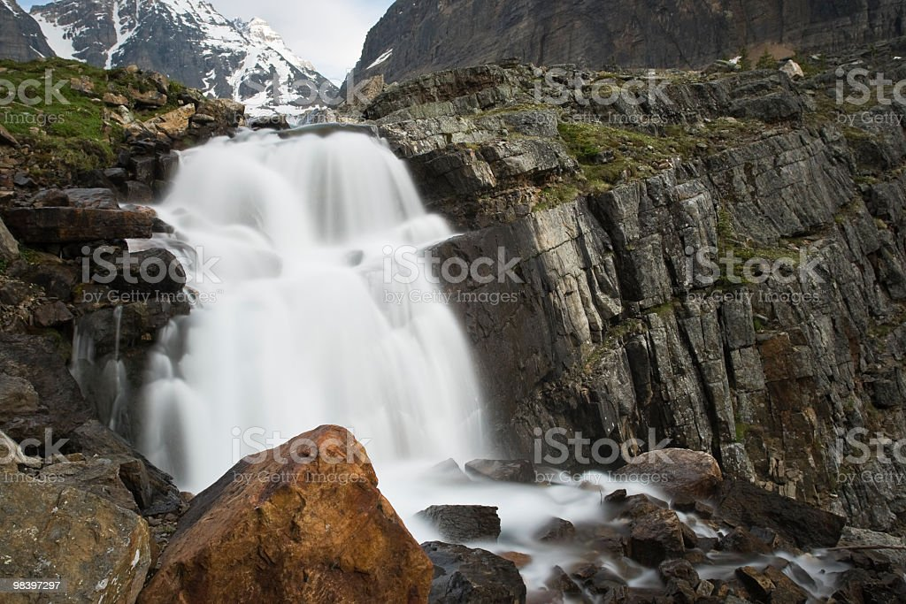 Silky Mountain Waterfall royalty-free stock photo