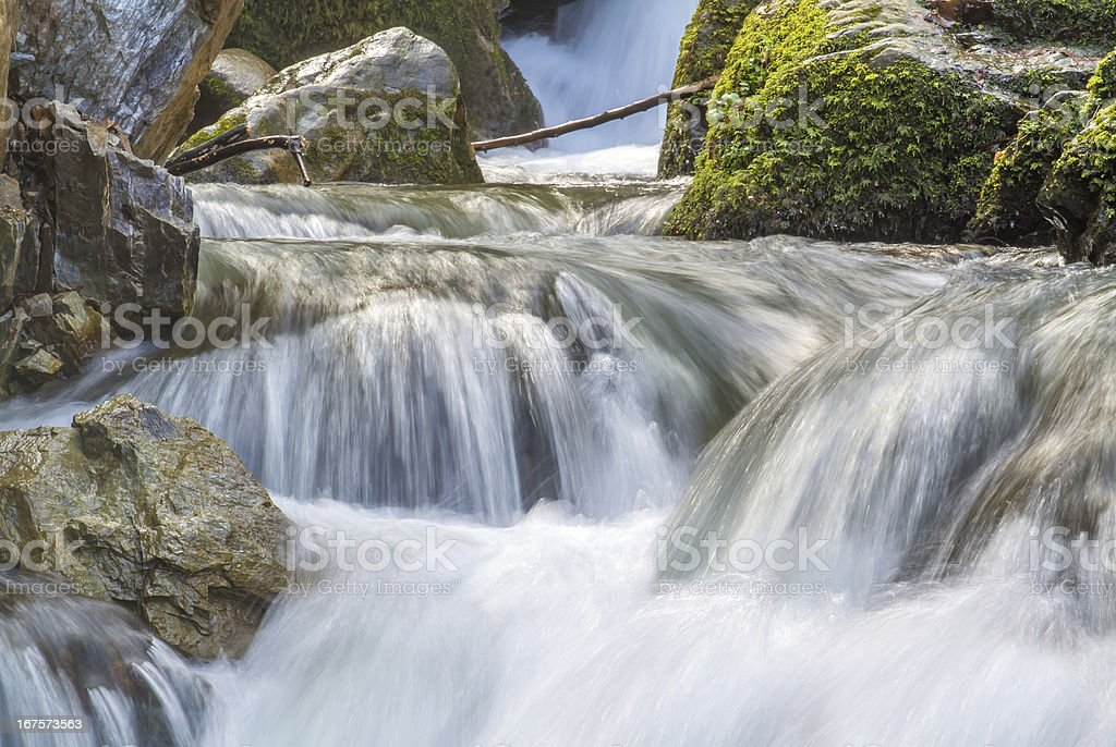 Silky smooth flowing water royalty-free stock photo