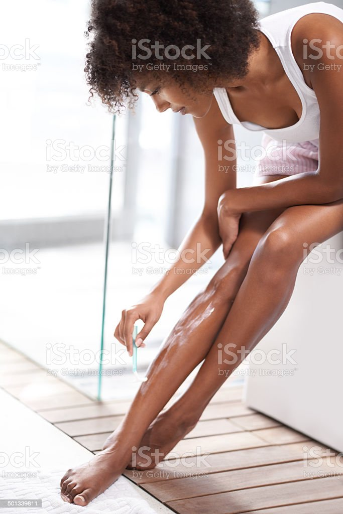 Silky smooth legs stock photo