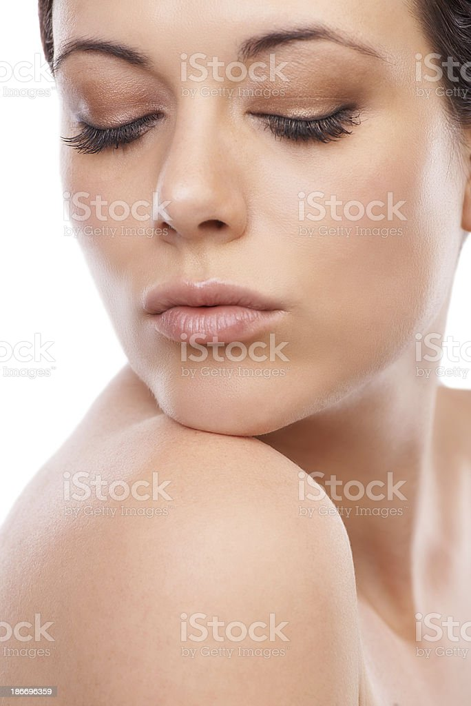 Silky smooth shoulders royalty-free stock photo