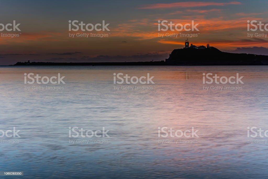 Silky Smooth Sunrise Seascape stock photo