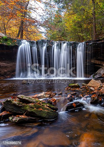 Ricketts Glen State Park, waterfall, fall colors, river, Waterfalls in the jungle, fall colors in the jungle, waterfall in the state park, waterfall and fall color, fall foliage, waterfall and fall foliage, state park, stream, current, nature, nature photography, waterfall photography, river photography