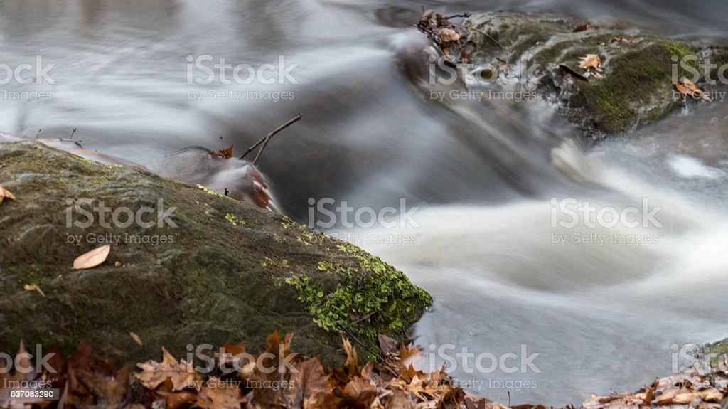Silky Stream Flow stock photo