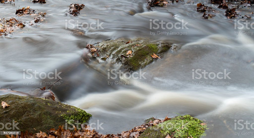Silky Stream Flowing stock photo